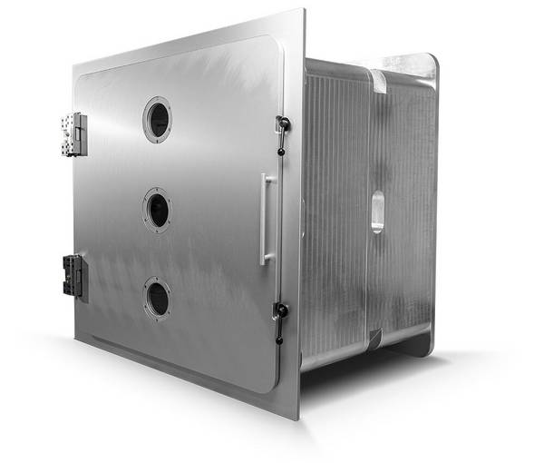 Aluminum vacuum chambers, Length modular in 500 mm steps, 1200 mm x 1200 mm