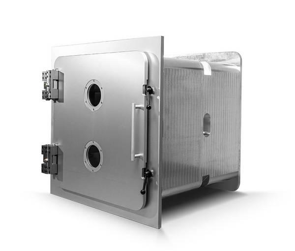 Aluminium Vakuumkammer, Länge modular in 500 mm Schritten, 800 mm x 800 mm