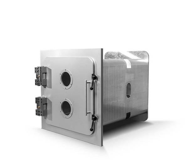 Aluminium Vakuumkammer, Länge modular in 500 mm Schritten, 600 mm x 600 mm