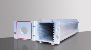 Modello 1 con porta aperta, camera in alluminio, camera da vuoto in alluminio, sistema a camera flessibile