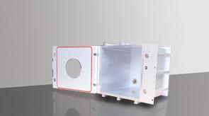 vakuum-kammer-aluminium-Modell_4_Front_geoffnete_Tuer- Aluminiumkammer, Vakuumkammer aus Aluminium, Flexibles Kammersystem