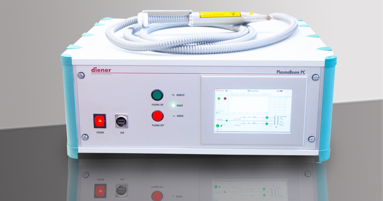 PlasmaBeam PC, atmospheric pressure plasma, plasma nozzle, plasma jet, table unit with PC