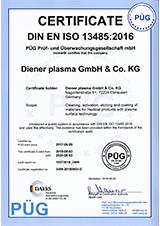 Certificate DIN EN ISO 13485 2016