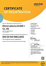 Certificate DIN EN ISO 9001 2015