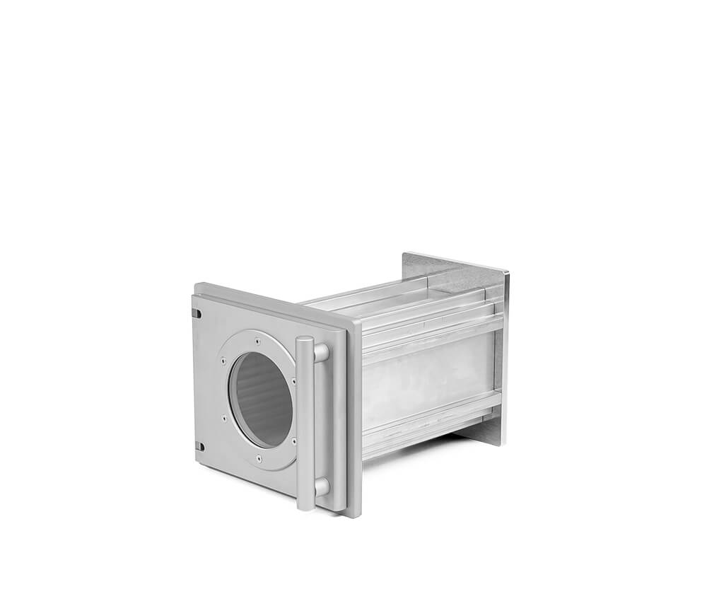Aluminum vacuum chambers in individual lenghth, 110 mm x 120 mm