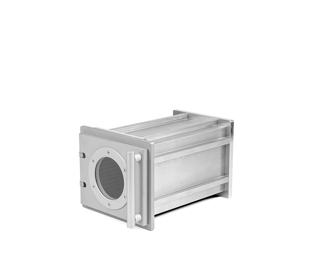 Aluminum vacuum chambers in individual lenghth, 150 mm x 160 mm