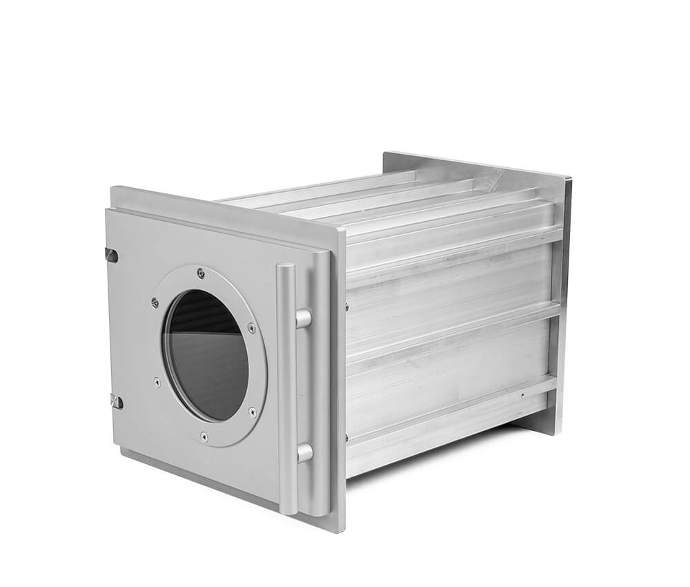 Aluminum vacuum chambers in individual lenghth, 240 mm x 240 mm