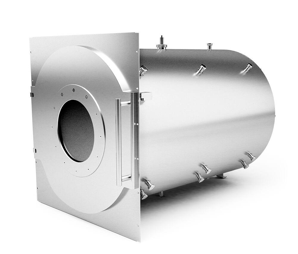 Cámara de vacío de aluminio en longitud individual, Ø 700 mm