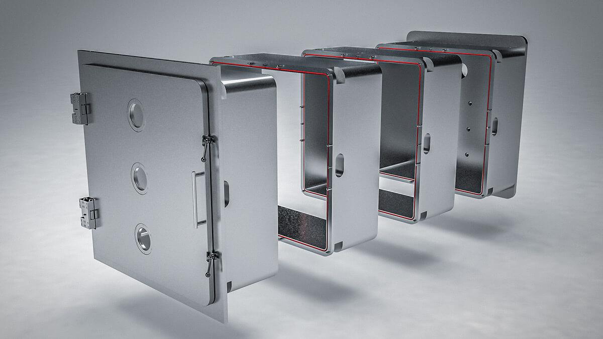 Modulare aluminium Vakuum-Kammer für ihre Vakuumanlage